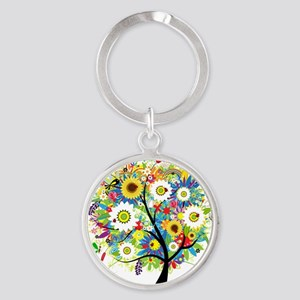 Trees5 [Converted] Round Keychain